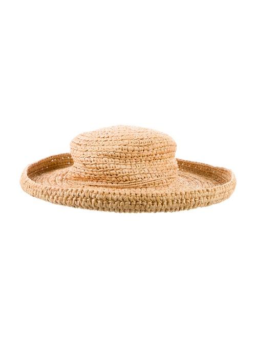 Kaminski Straw Wide Brim Hat Brown - image 1