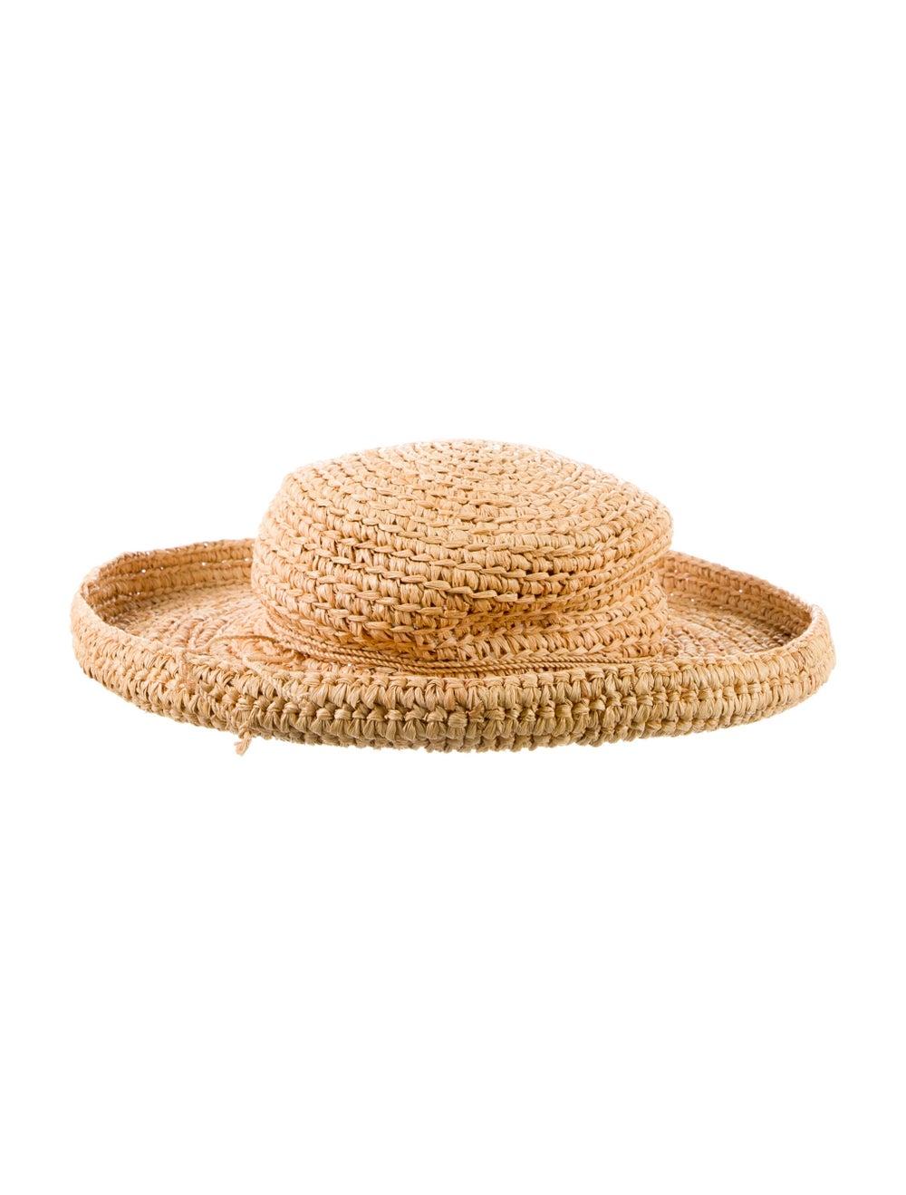 Kaminski Straw Wide Brim Hat Brown - image 2