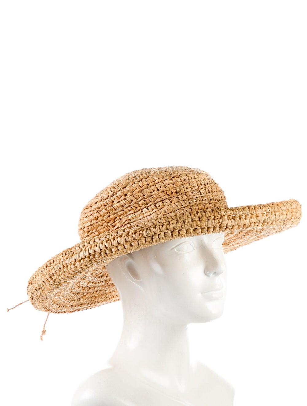 Kaminski Straw Wide Brim Hat Brown - image 3