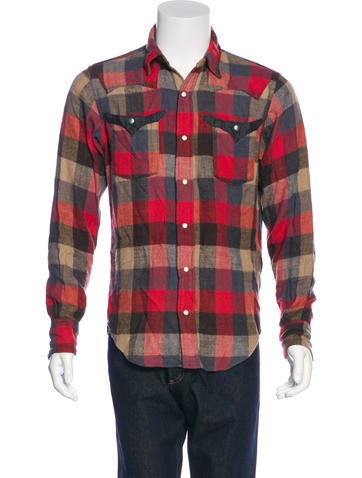 Kapital Buffalo Plaid Flannel Shirt Clothing