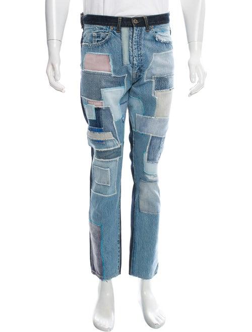 Kapital Patchwork Skinny Jeans w/ Tags blue