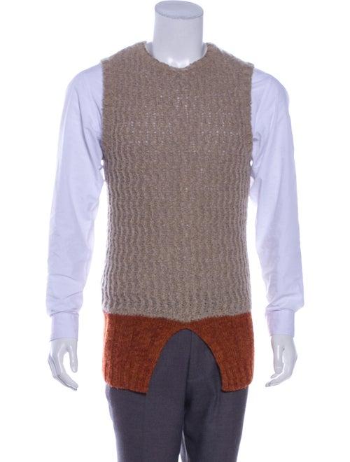 Kapital Colorblock Sweater Vest tan