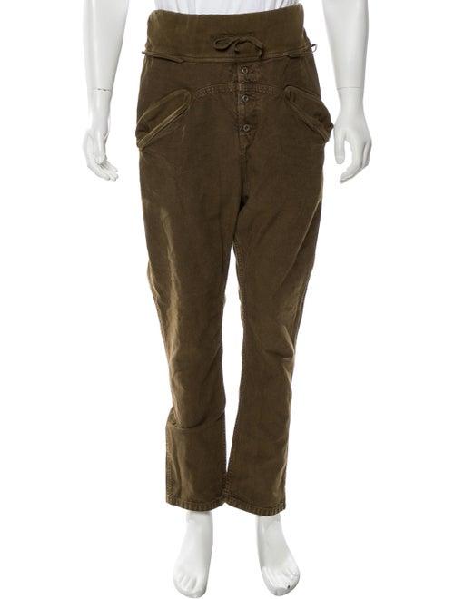 Kapital Cropped Drawstring Pants olive