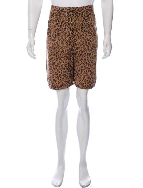 Kapital Printed Reversible Shorts beige