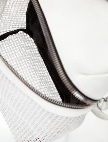 Small Perforated Leather Backpack