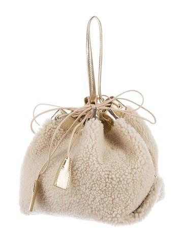 Shearling Bucket Bag