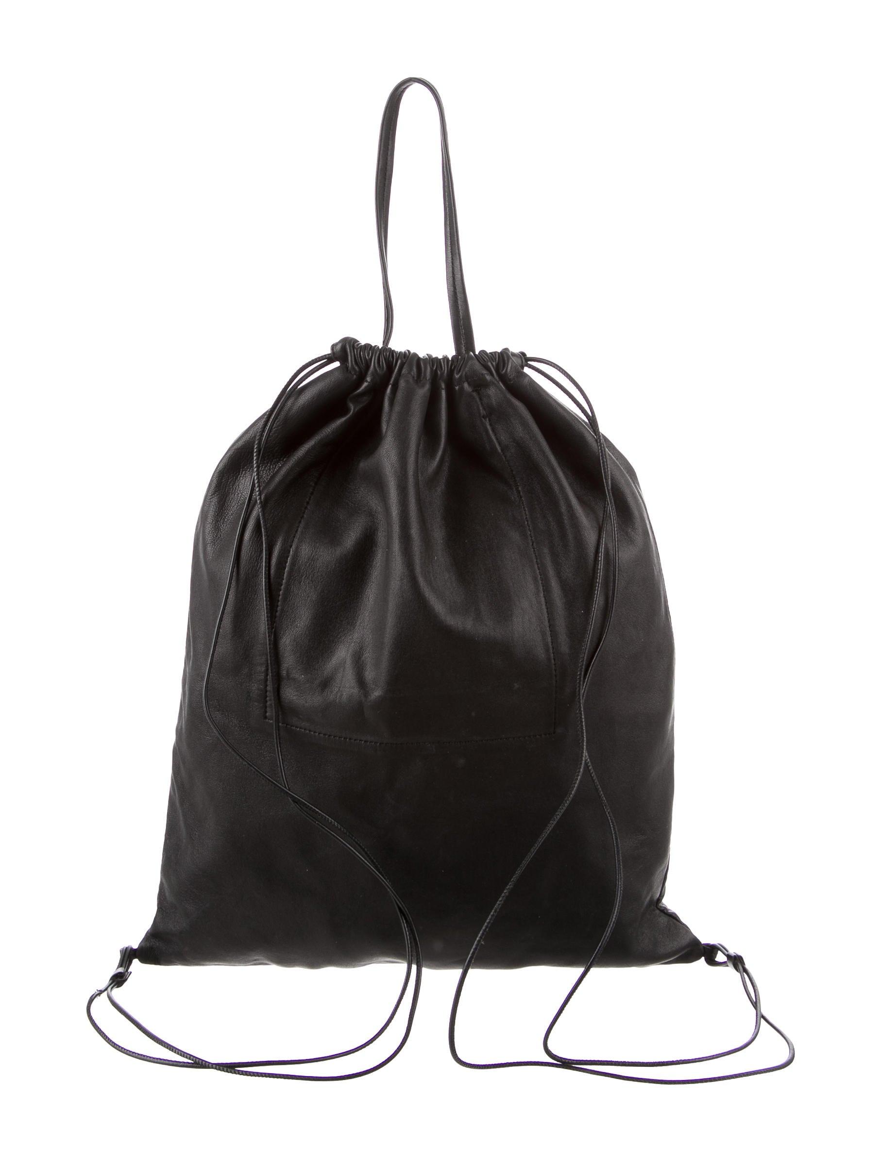 Kara Leather Drawstring Backpack Handbags Wkara20171 The Realreal