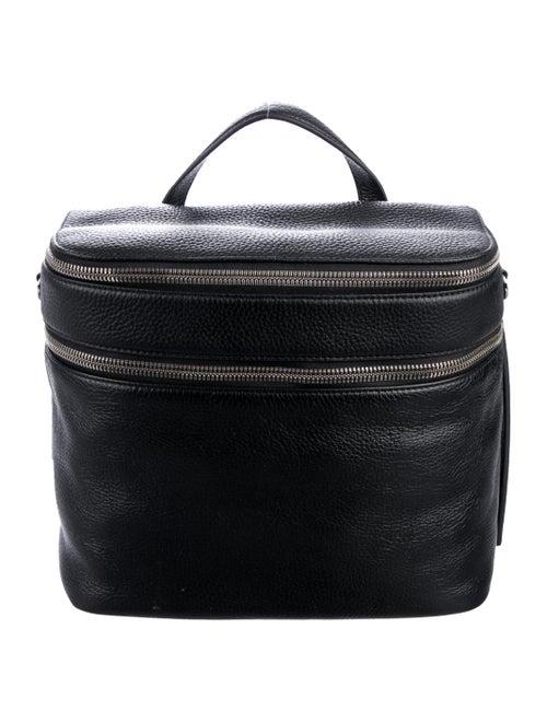 Kara Leather Shoulder Bag Black