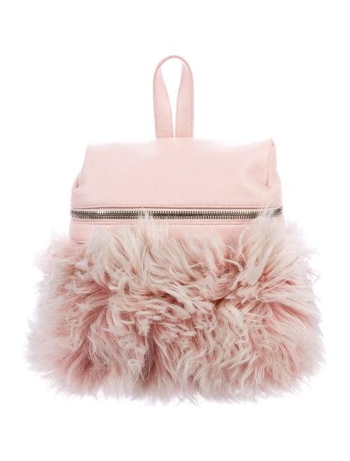 Kara Grained Leather Backpack Pink