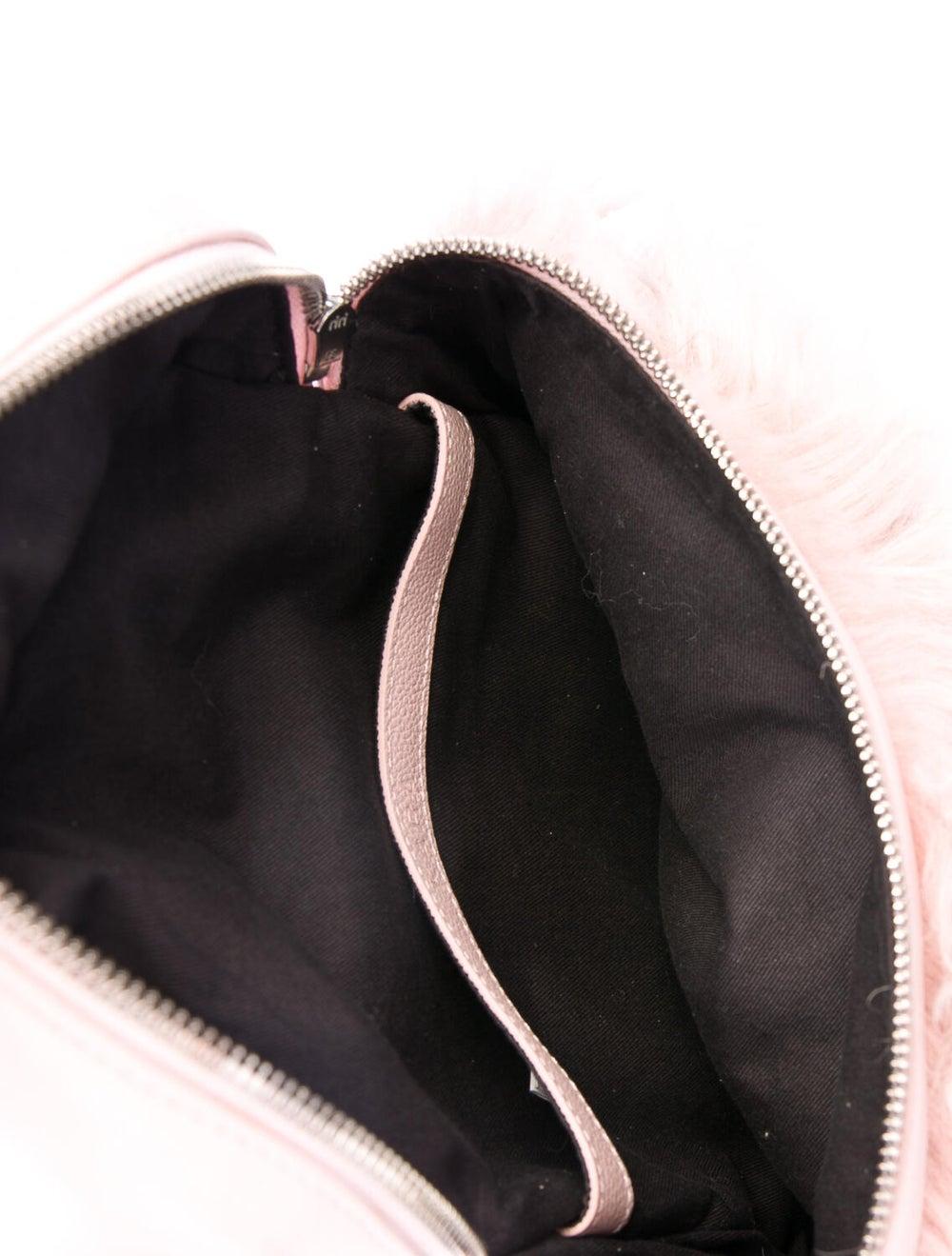 Kara Grained Leather Backpack Pink - image 5
