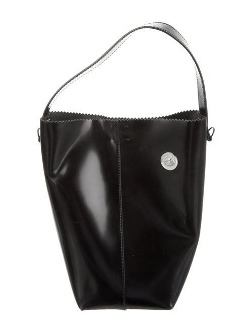 Kara Patent Leather Bucket Bag Black