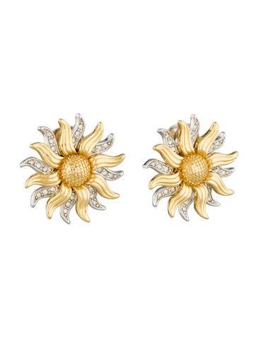 Two Tone Sun Earrings