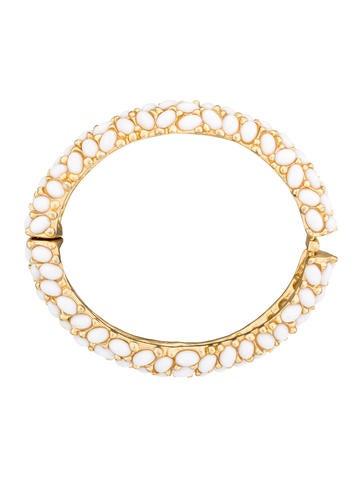 White Enamel Bracelet