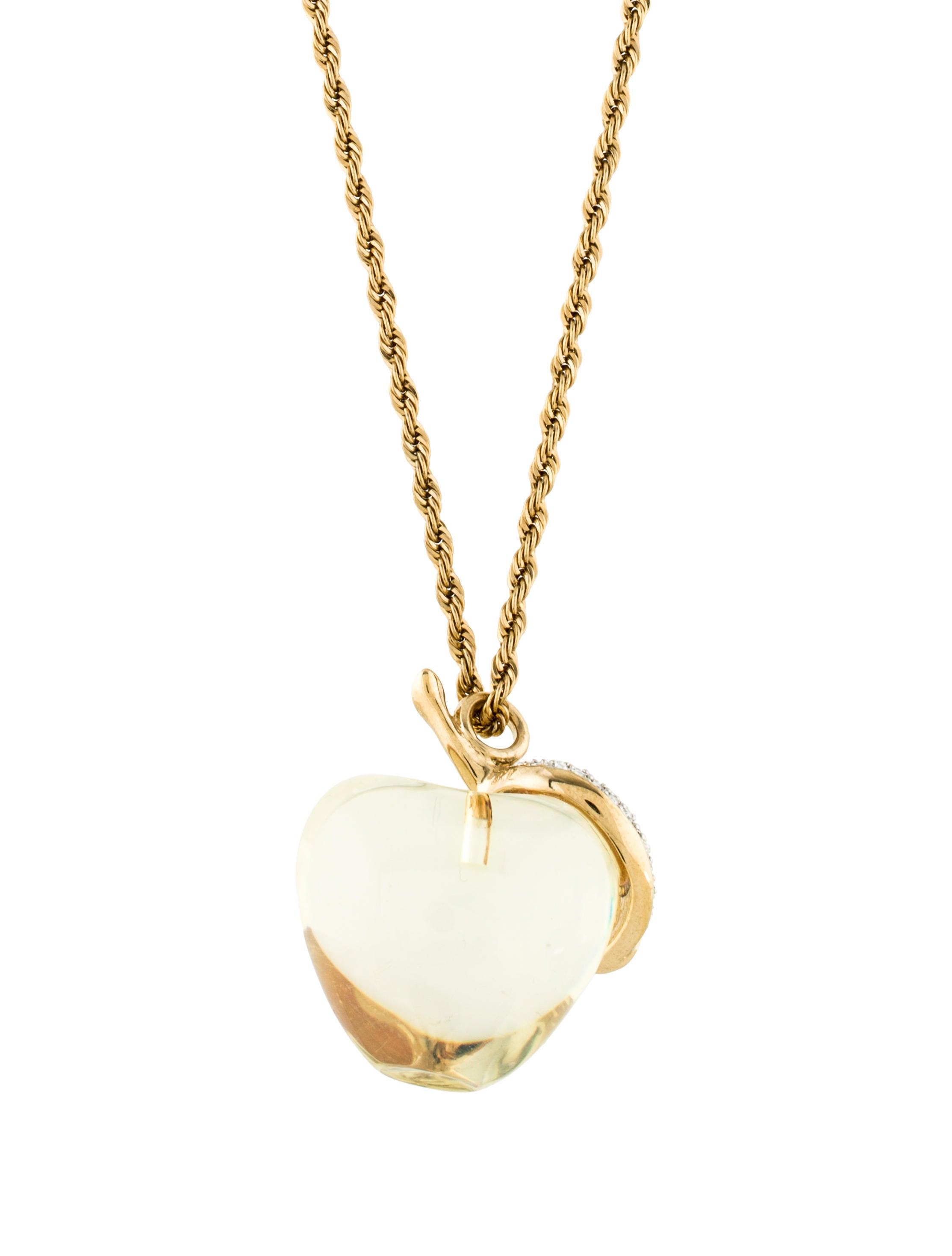 Kenneth jay lane apple pendant necklace necklaces wke22428 the apple pendant necklace aloadofball Gallery