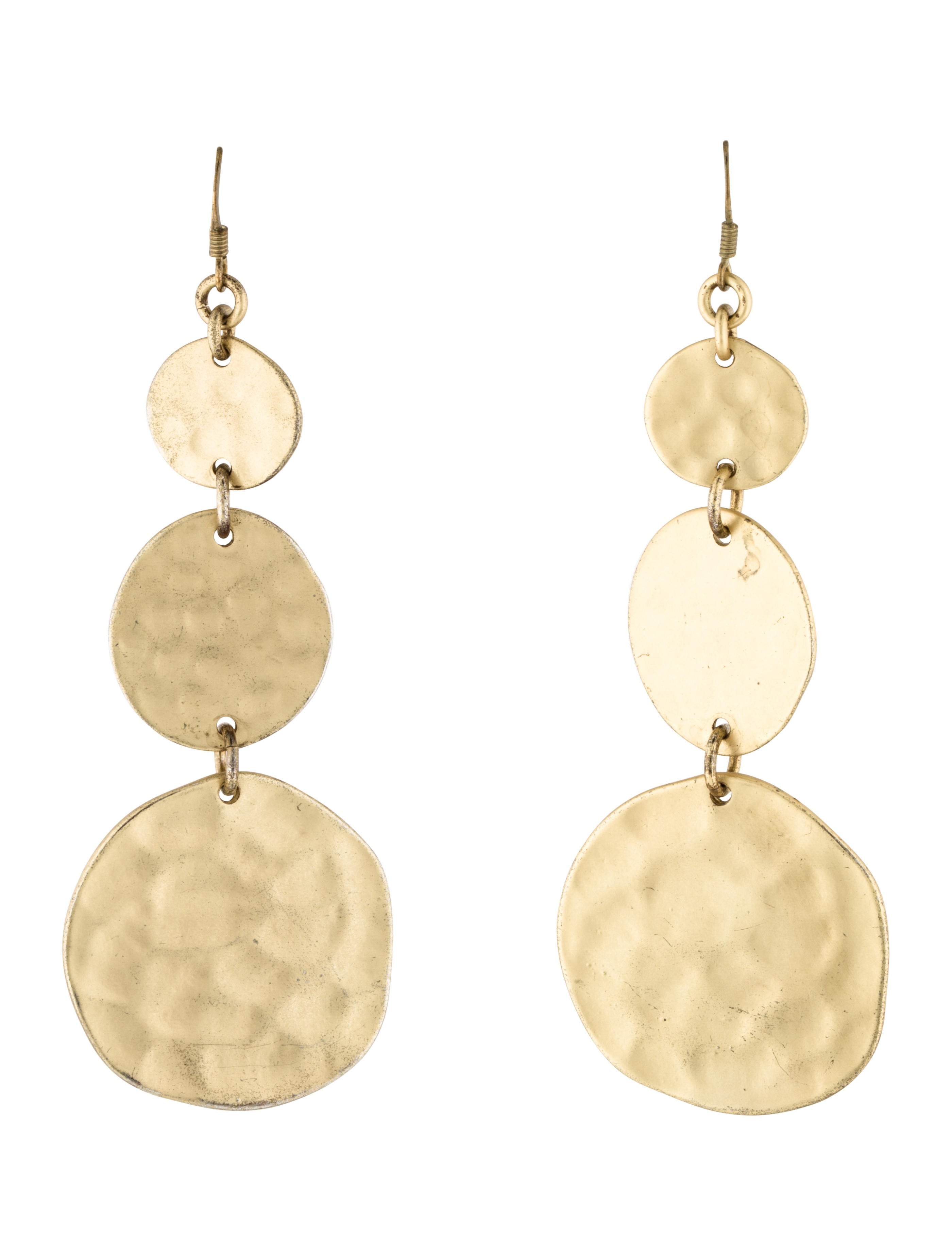 kenneth jay lane hammered earrings earrings wke22797 the realreal. Black Bedroom Furniture Sets. Home Design Ideas