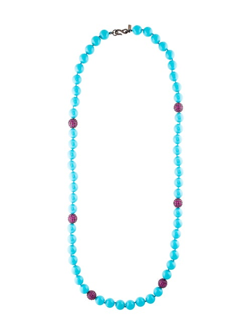 Kenneth Jay Lane Crystal & Bead Necklace
