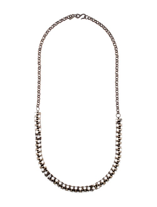 Kenneth Jay Lane Crystal Chain Necklace