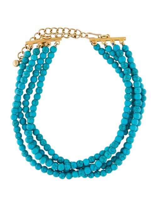 Kenneth Jay Lane Resin Beaded Multistrand Necklace