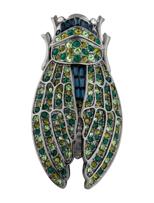 Kenneth Jay Lane Crystal Insect Brooch