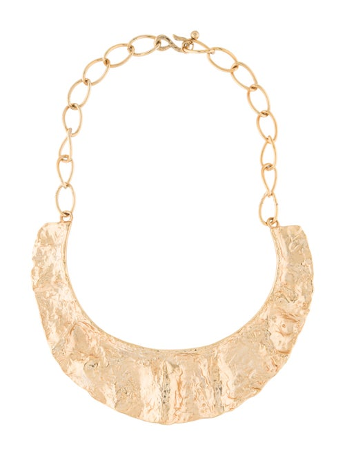 Kenneth Jay Lane Scalloped Necklace Gold