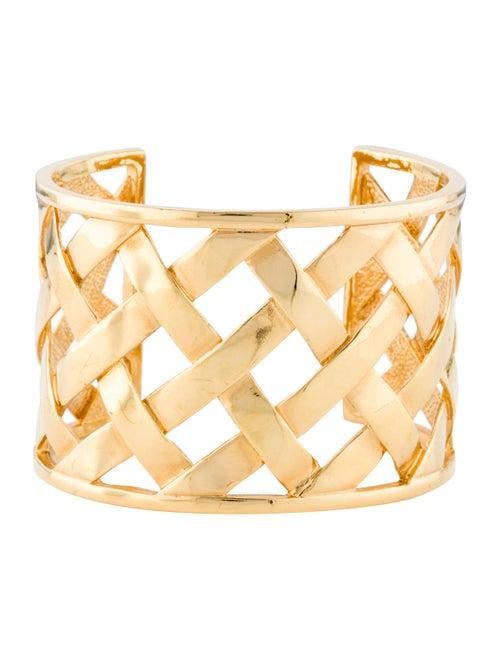Kenneth Jay Lane Basketweave Cuff Gold