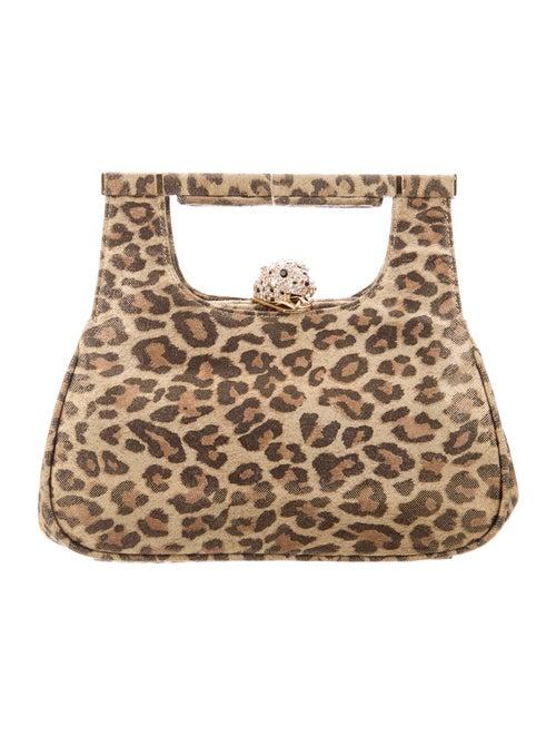 Kenneth Jay Lane Animal Printed Clutch Bag Gold