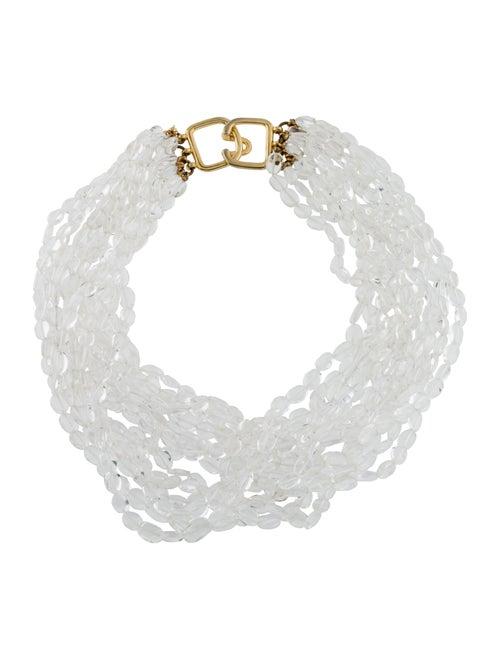Kenneth Jay Lane Quartz Multistrand Necklace Gold
