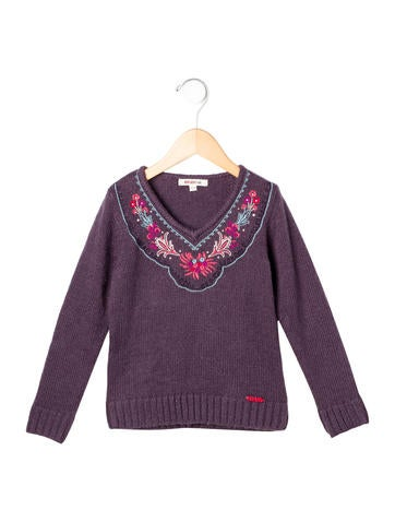 Kenzo Kids Girls' Embroidered Knit Sweater None