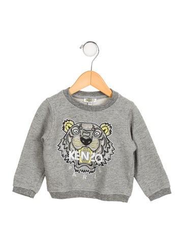 Kenzo Kids Boys' Embroidered Crew Neck Sweatshirt None