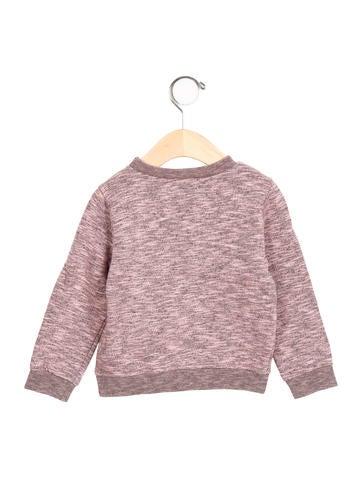Girls' Embroidered Pullover Sweatshirt