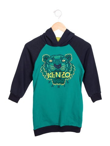 Kenzo Kids Girls' Hooded Sweatshirt Dress None