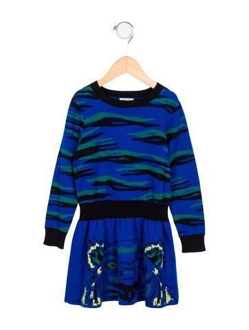 Kenzo Kids Girls' Patterned Sweater Dress w/ Tags None