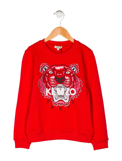 ae5c1b1e Kenzo Kids Girls' Embroidered Tiger Sweatshirt w/ Tags - Girls ...