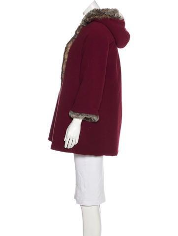 Girls' Faux Fur-Trimmed Hooded Coat