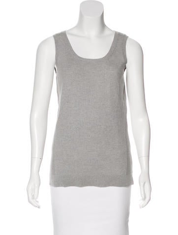 Kinross Cashmere Sleeveless Cashmere Sweater w/ Tags None