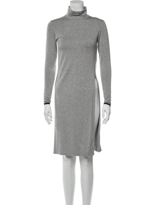 Kith Turtleneck Knee-Length Dress Grey