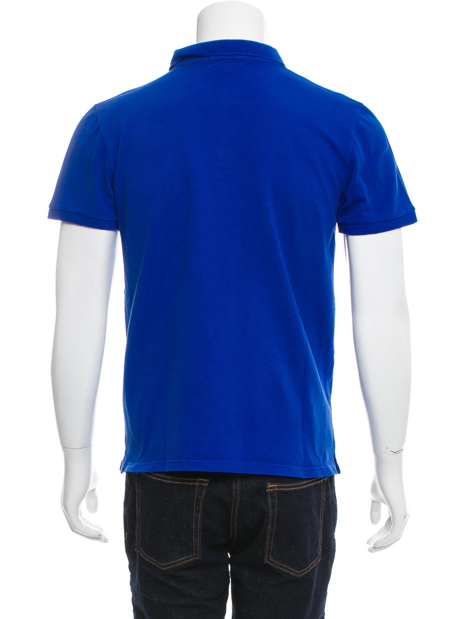 Kitsune logo embroidered polo shirt clothing for Logo printed polo shirts