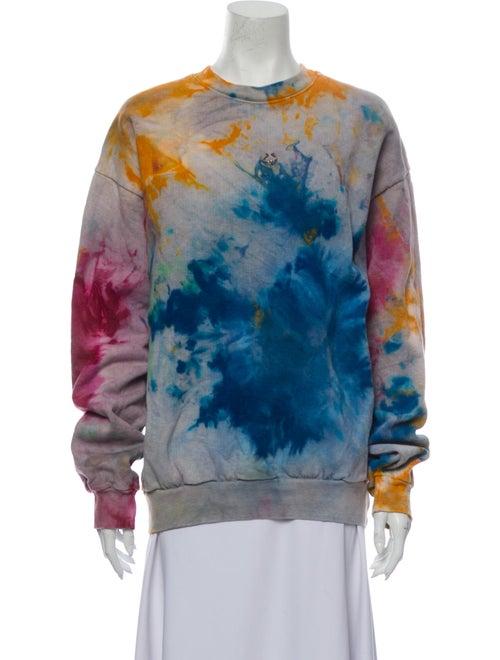 KKCo Tie-Dye Print Crew Neck Sweatshirt Grey