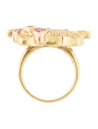Kimora Lee Simmons 18k Multistone Hello Kitty Cocktail Ring