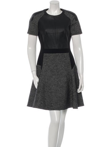 Karen Millen Short Sleeve A-Line Dress