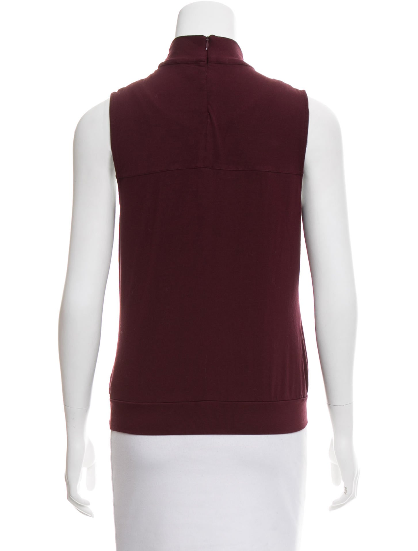 Karen millen sleeveless mock neck top clothing for Sleeveless mock turtleneck shirts