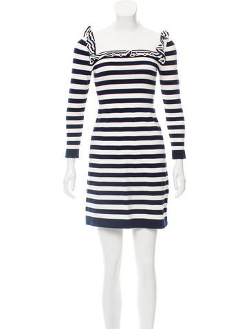 Karen Millen Striped Mini Dress None