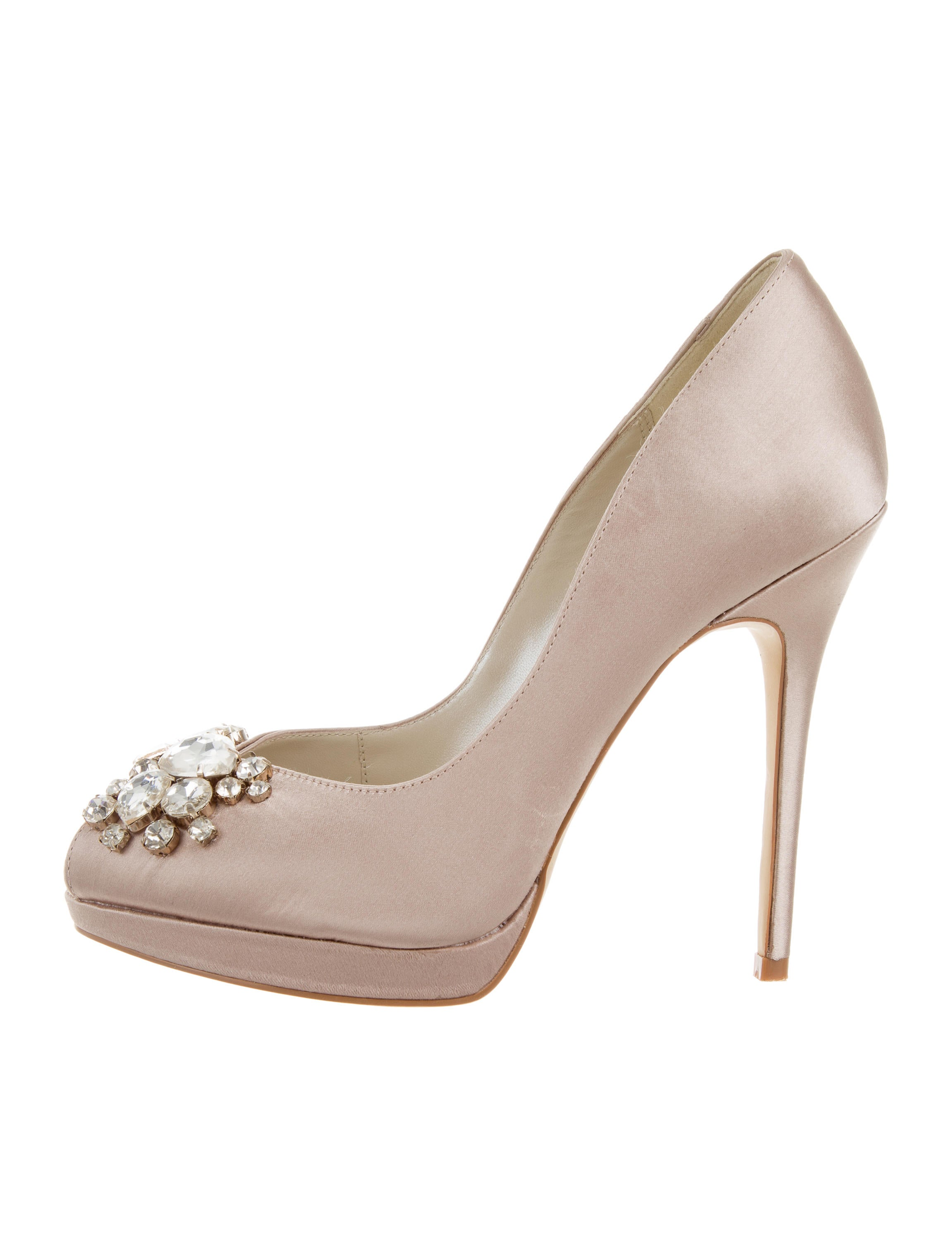 Karen Millen Satin Jewel-Embellished Pumps with credit card cheap price cheap sale countdown package outlet 100% authentic pick a best for sale for sale under $60 gYJtXIZ7