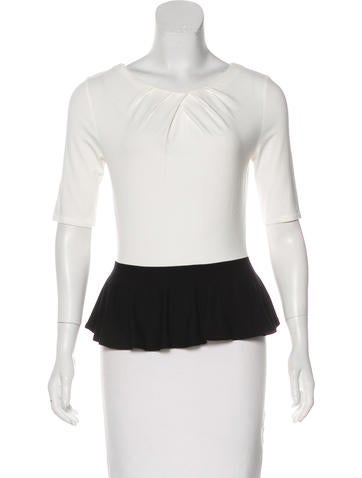 Karen Millen Knit Peplum Top None