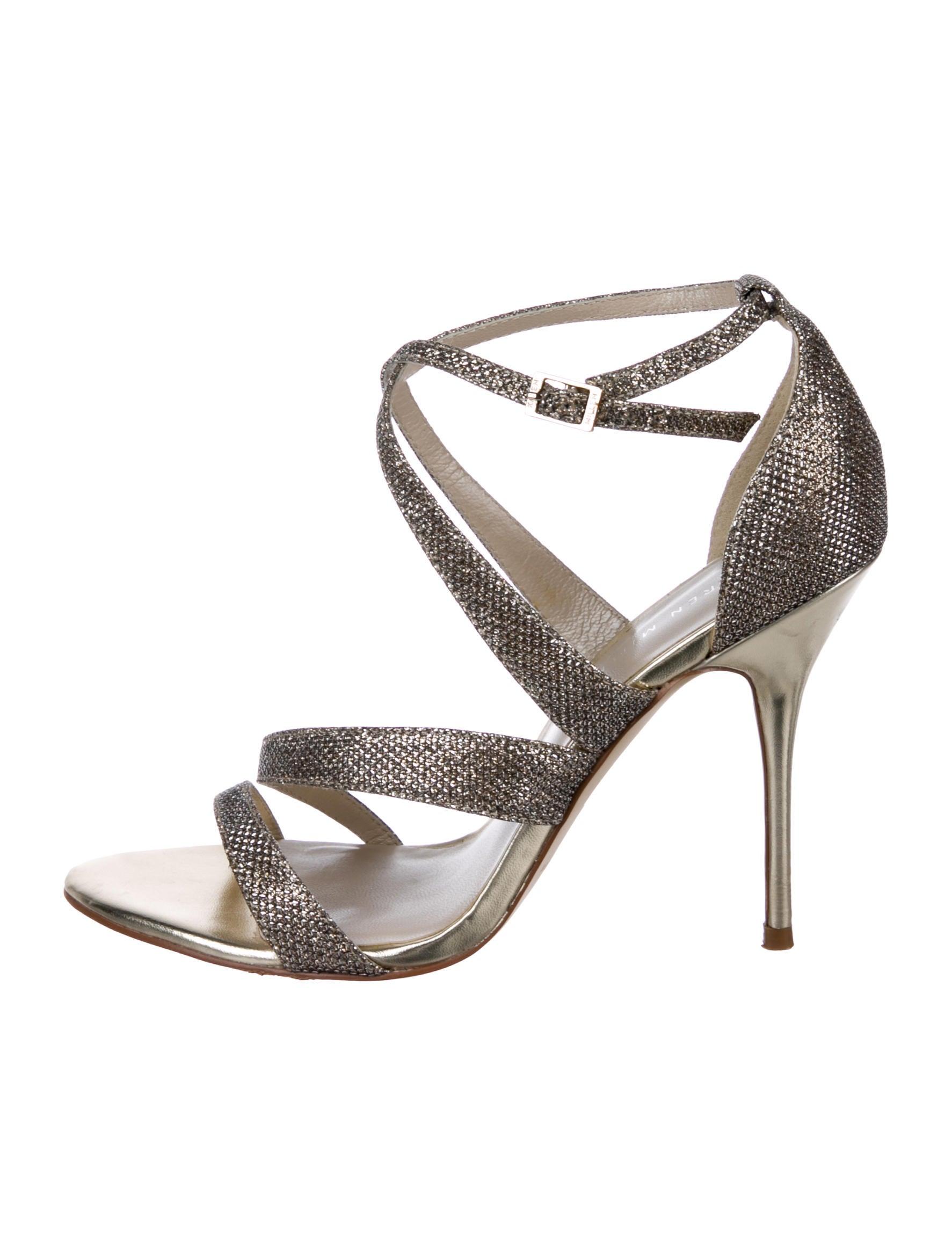 bf5d70683e Karen Millen Glitter Metallic Sandals - Shoes - WKM25755   The RealReal