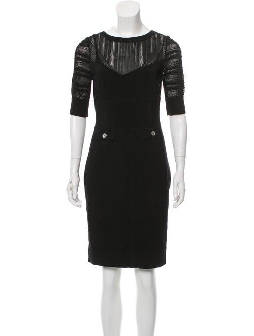Karen Millen Knit Knee-Length Dress Black