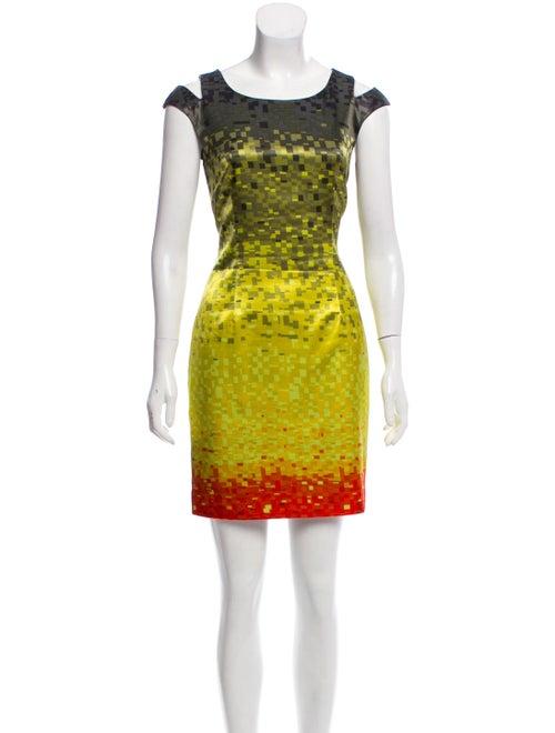 Karen Millen Satin Mini Dress Green
