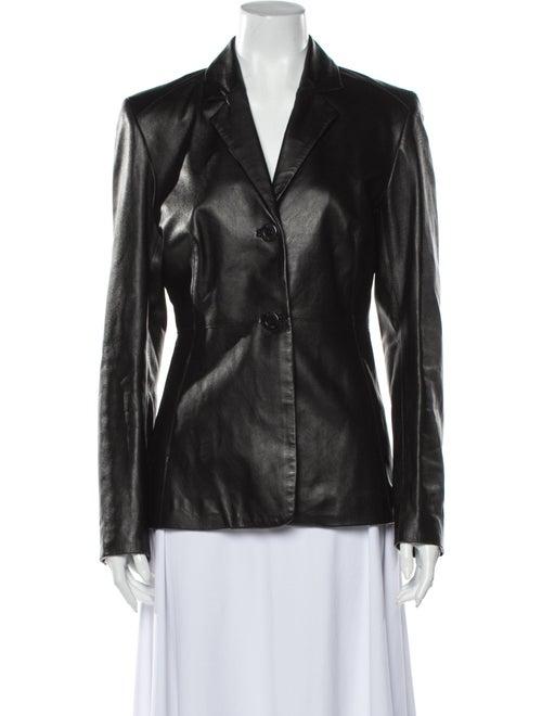 Karen Millen Leather Blazer Black