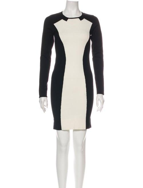 Karen Millen Colorblock Pattern Mini Dress Black