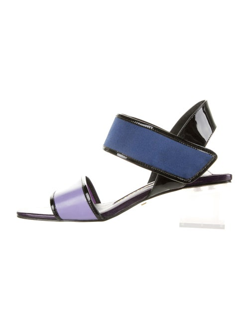 Kat Maconie Patent Leather Colorblock Pattern Sand